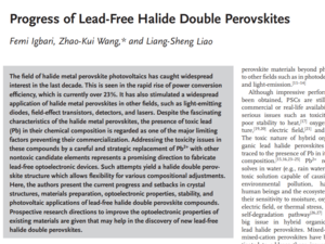 Progress of Lead-Free Halide Double Perovskites 《Advanced Energy Materials》